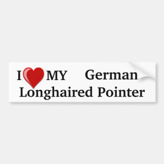 I Love (Heart) My German Longhaired Pointer Dog Bumper Sticker
