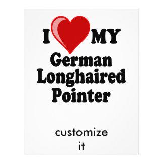 I Love (Heart) My German Longhaired Pointer Dog Flyer