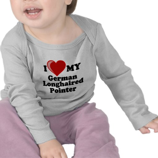 I Love (Heart) My German Longhaired Pointer Dog T Shirt