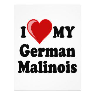 I Love (Heart) My German Malinois Dog Card Flyers