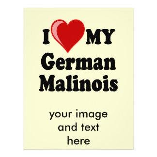 I Love (Heart) My German Malinois Dog Flyer