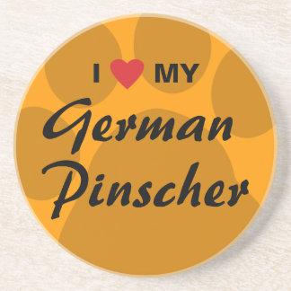I Love Heart My German Pinscher Drink Coasters