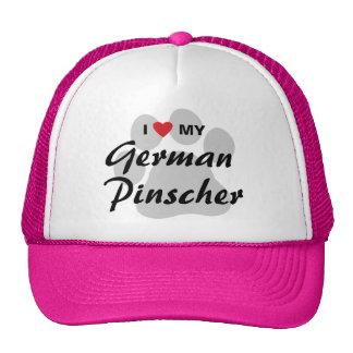 I Love (Heart) My German Pinscher Trucker Hat