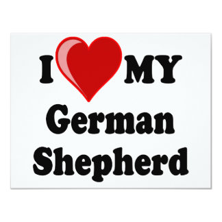 I Love (Heart) My German Shepherd Dog Card