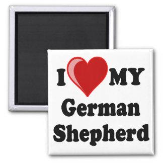 I Love (Heart) My German Shepherd Dog Refrigerator Magnet