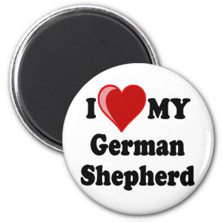 I Love (Heart) My German Shepherd Dog Refrigerator Magnets