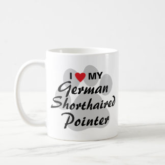 I Love (Heart) My German Shorthaired Pointer Coffee Mug