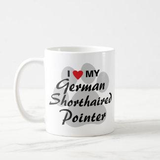 I Love (Heart) My German Shorthaired Pointer Coffee Mug