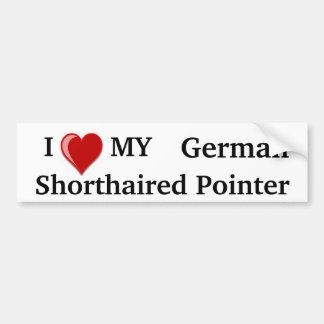 I Love (Heart) My German Shorthaired Pointer Dog Car Bumper Sticker
