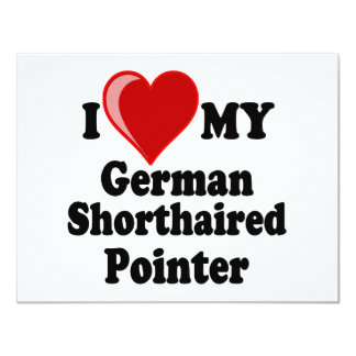 I Love (Heart) My German Shorthaired Pointer Dog Card