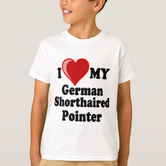 I Love (Heart) My German Shorthaired Pointer Dog T-Shirt