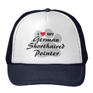 I Love (Heart) My German Shorthaired Pointer Trucker Hat