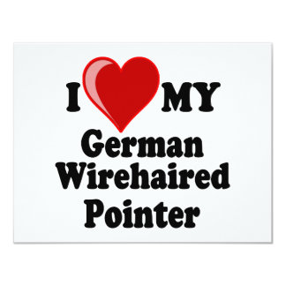 I Love (Heart) My German Wirehaired Pointer Dog Card