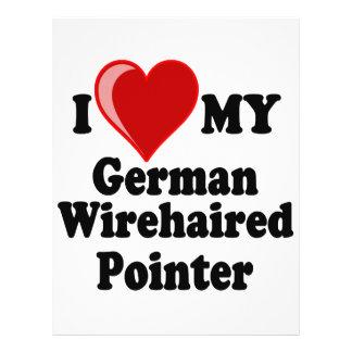 I Love (Heart) My German Wirehaired Pointer Dog Flyer Design