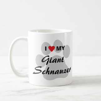 I Love (Heart) My Giant Schnauzer Coffee Mug