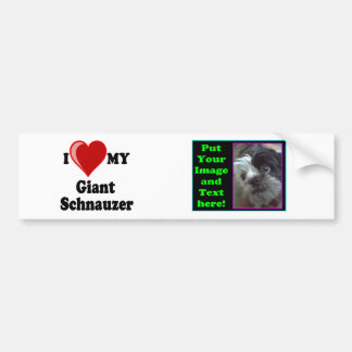 I Love (Heart) My Giant Schnauzer Dog Bumper Sticker