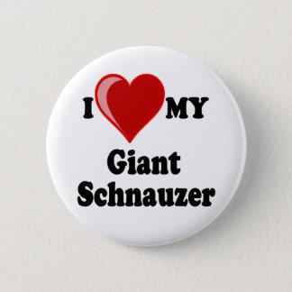 I Love (Heart) My Giant Schnauzer Dog Button