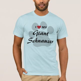I Love (Heart) My Giant Schnauzer T-Shirt