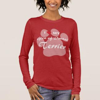 I Love (Heart) My Glen of Imaal Terrier Pawprint Long Sleeve T-Shirt