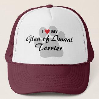 I Love (Heart) My Glen of Imaal Terrier Pawprint Trucker Hat