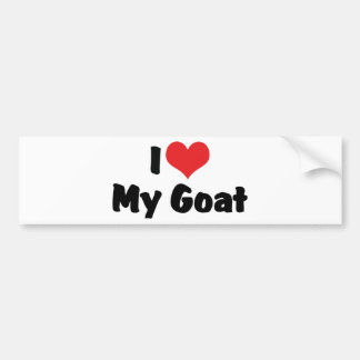 I Love Heart My Goat Bumper Sticker