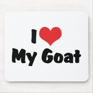 I Love Heart My Goat Mouse Pad