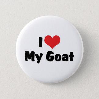 I Love Heart My Goat Pinback Button
