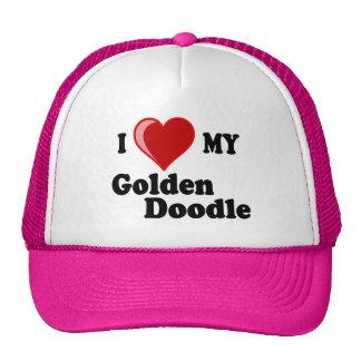 I Love (Heart) My Golden Doodle Dog Hat Trucker Hat