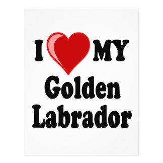 I Love (Heart) My Golden Labrador Dog Flyer Design