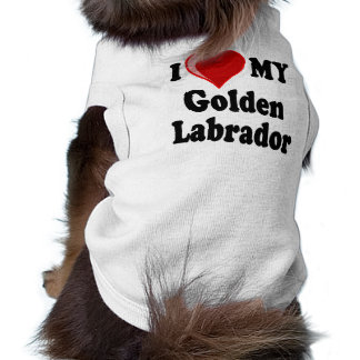 I Love (Heart) My Golden Labrador Dog T-Shirt