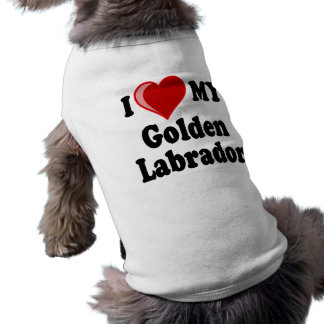 I Love (Heart) My Golden Labrador Dog Tee