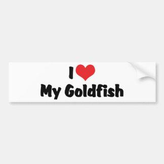 I Love Heart My Goldfish - Aquarium Fish Lover Bumper Sticker