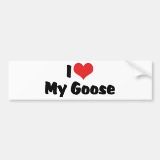 I Love Heart My Goose - Bird Lover Bumper Sticker