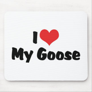 I Love Heart My Goose - Bird Lover Mouse Pad