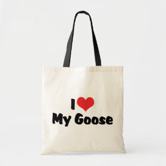 I Love Heart My Goose - Bird Lover Tote Bag