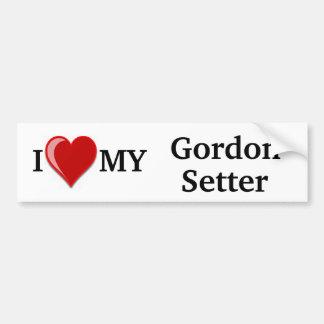 I Love (Heart) My Gordon Setter Dog Bumper Sticker
