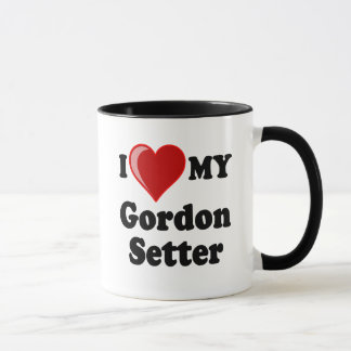 I Love (Heart) My Gordon Setter Dog Mug