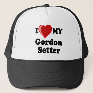 I Love (Heart) My Gordon Setter Dog Trucker Hat