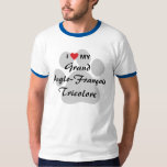 I Love(Heart) My Grand Anglo-Français Tricolore T-Shirt