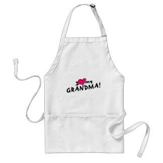 I love (heart) my grandma! adult apron