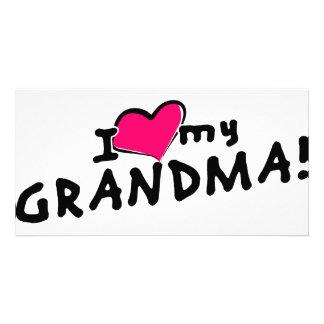 I love (heart) my grandma! card