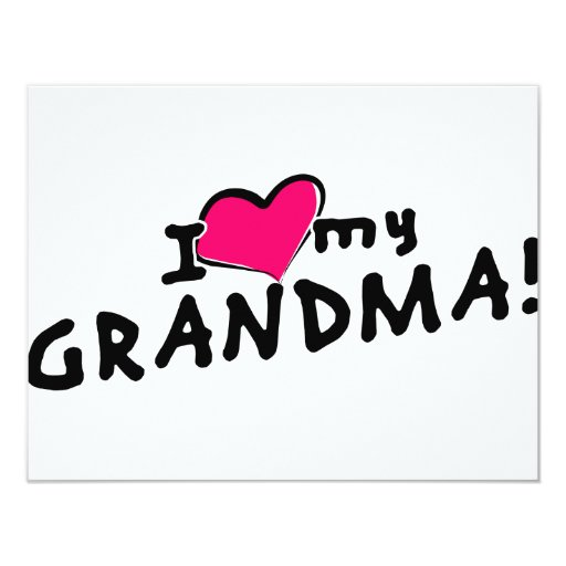 I love (heart) my grandma! personalized invites