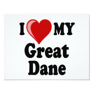 I Love (Heart) My Great Dane Dog Card