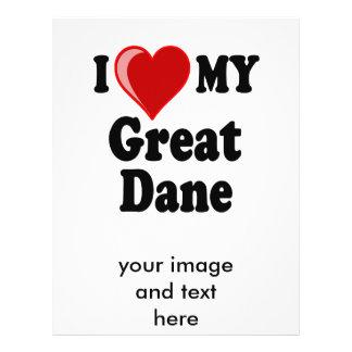 I Love (Heart) My Great Dane Dog Flyer