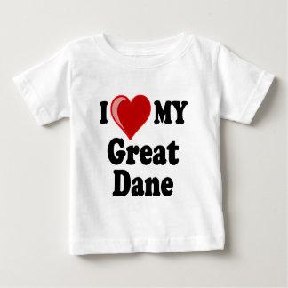 I Love (Heart) My Great Dane Dog Tee Shirt
