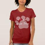 I Love (Heart) My Great Dane Pawprint T-Shirt
