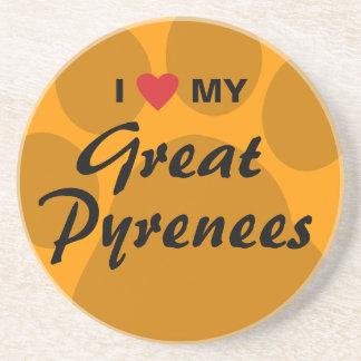 I Love (Heart) My Great Pyrenees Coaster