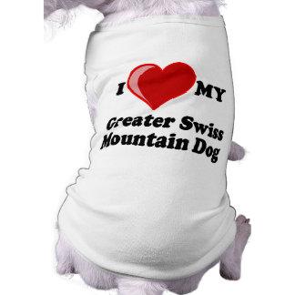 I Love (Heart) My Greater Swiss Mountain Dog Shirt