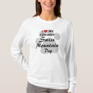 I Love (Heart) My Greater Swiss Mountain Dog T-Shirt