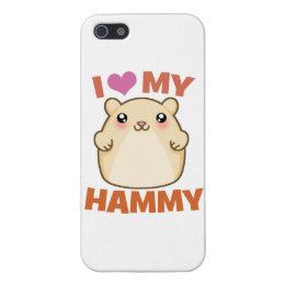 I Love (Heart) My Hammie iPhone 5 Case